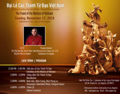Video Photo Đại Lễ Các Thánh Tử Đạo Việt Nam – Bổn Mạng Cộng Đồng 11/17/2019