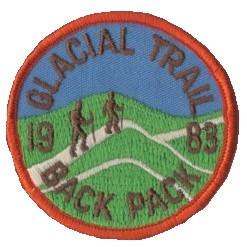 Badger Trails Glacial Trail Hike Patch 1983
