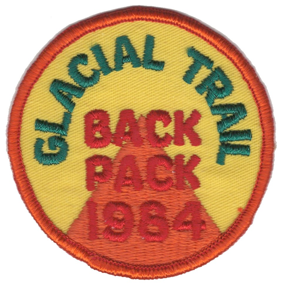 Badger Trails Glacial Trail Hike Patch 1984