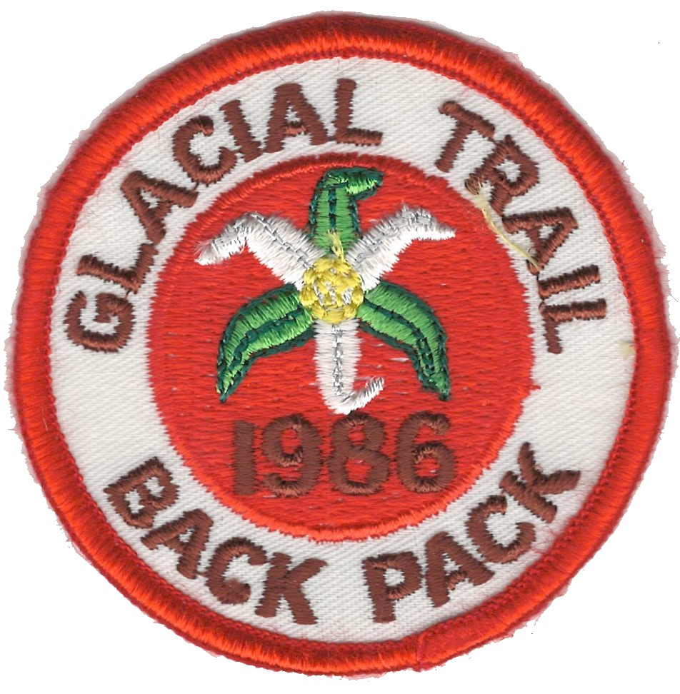 Badger Trails Glacial Trail Hike Patch 1986
