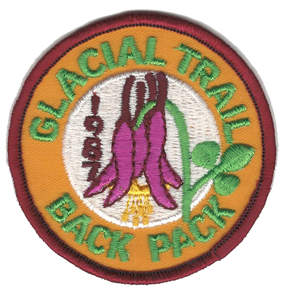 Badger Trails Glacial Trail Hike Patch 1987