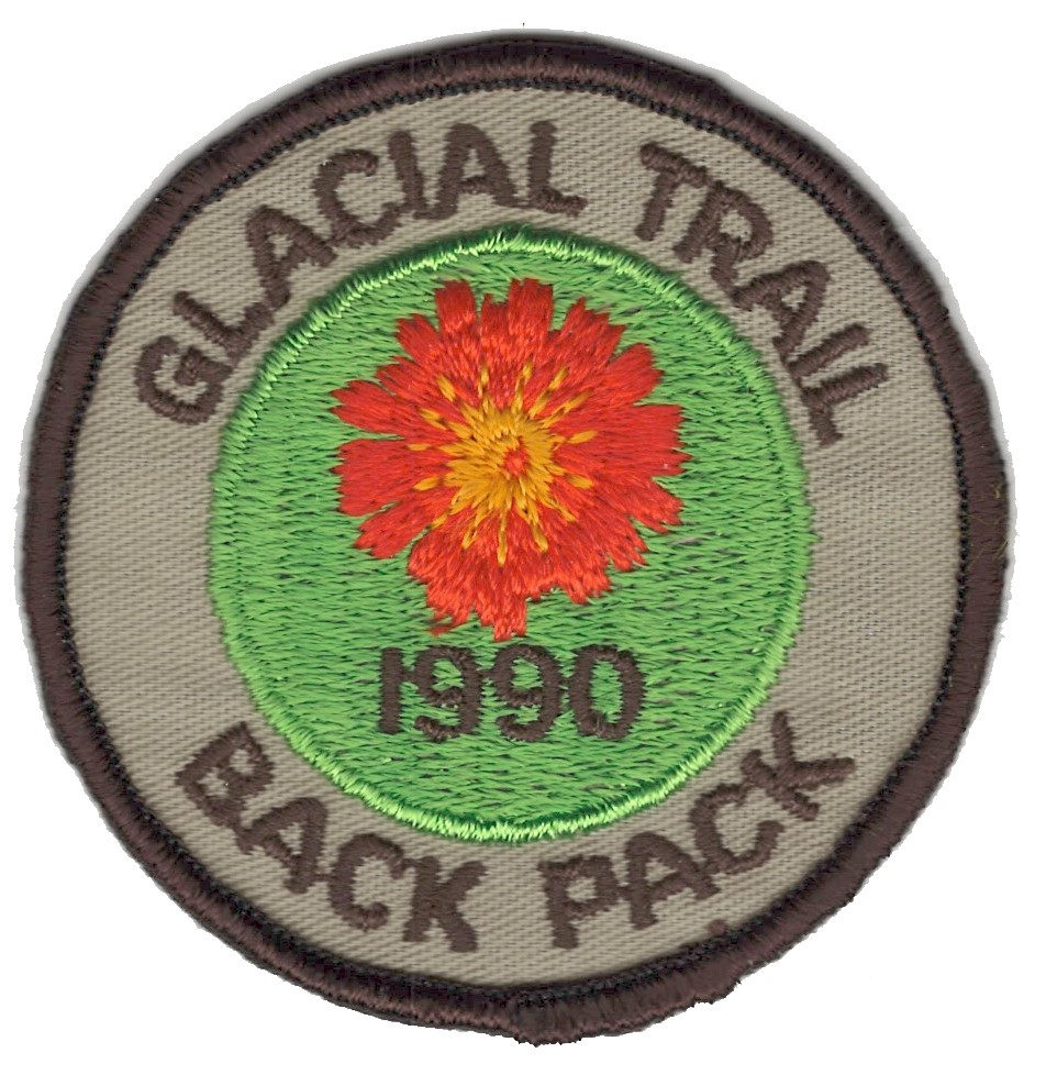Badger Trails Glacial Trail Hike Patch 1990
