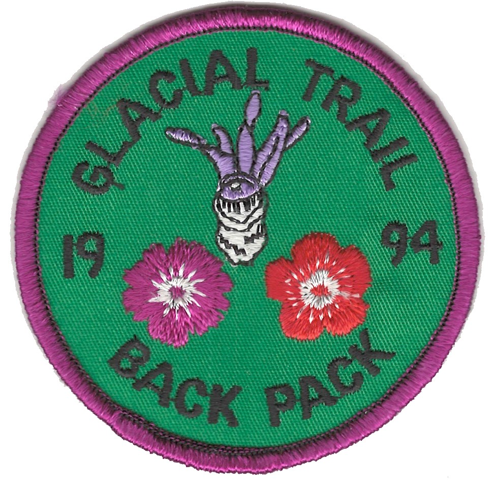 Badger Trails Glacial Trail Hike Patch 1994