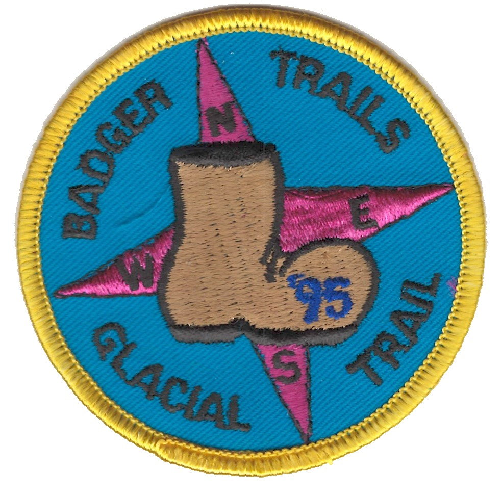 Badger Trails Glacial Trail Hike Patch 1995