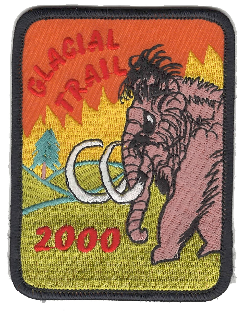 Badger Trails Glacial Trail Hike Patch 2000
