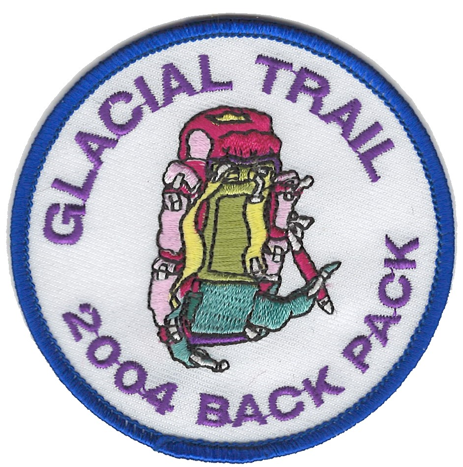 Badger Trails Glacial Trail Hike Patch 2004