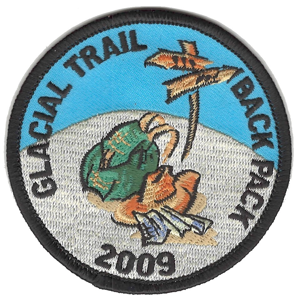 Badger Trails Glacial Trail Hike Patch 2009