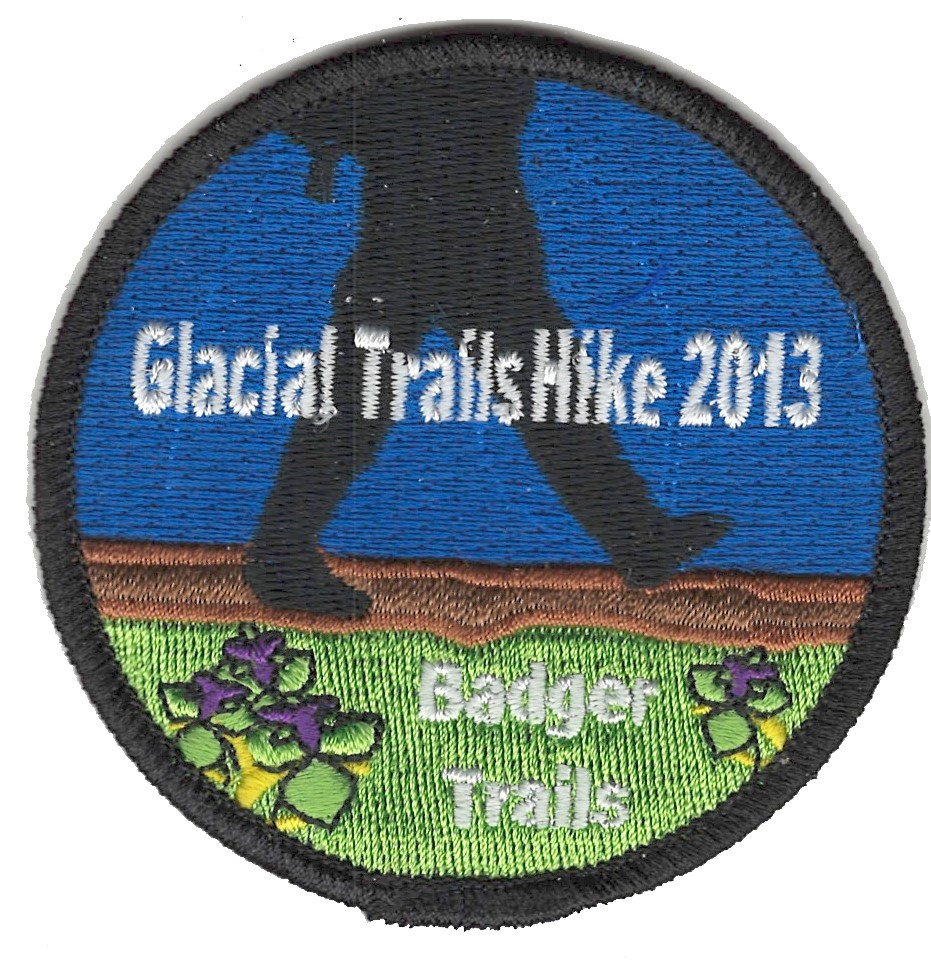 Badger Trails Glacial Trail Hike Patch 2013