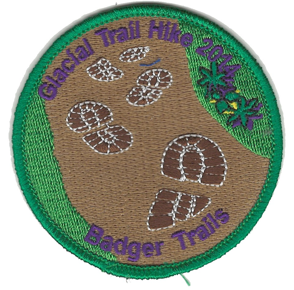 Badger Trails Glacial Trail Hike Patch 2014