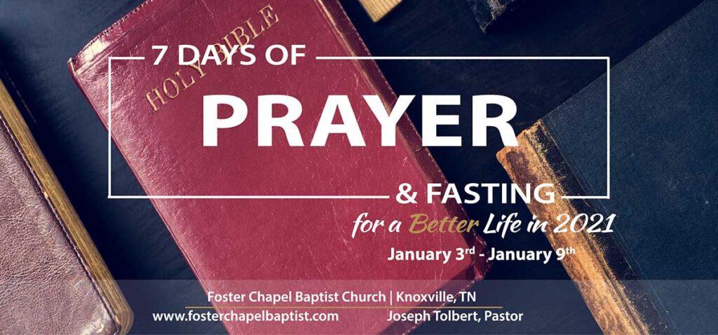 7 Days of Prayer & Fasting