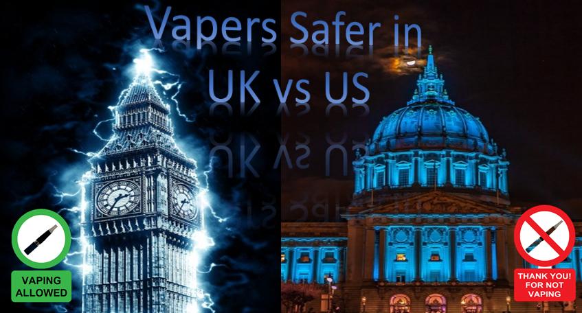 Vapers Safer in UK vs US