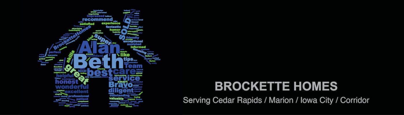 Brockette Homes Word Cloud Website Banner