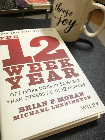 """Photo of the book """"The 12 Week Year"""""""