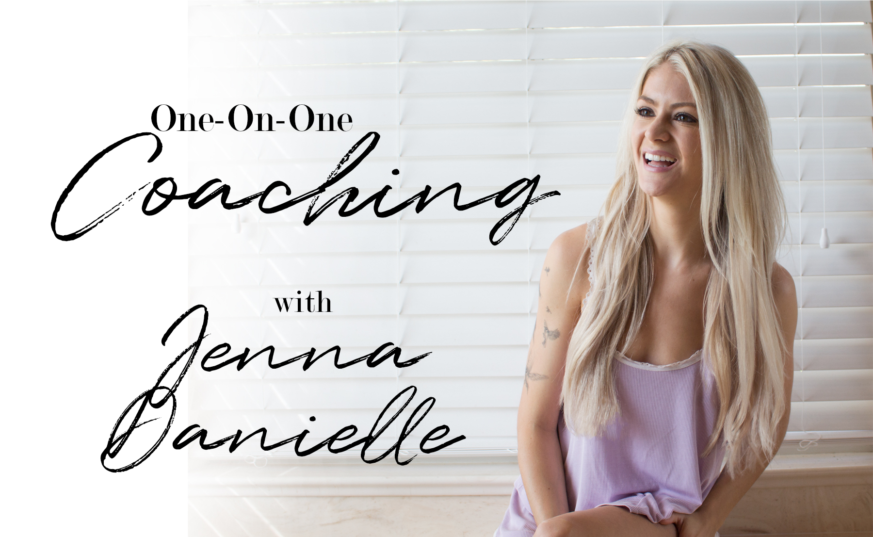 Wellness Coach Jenna Danielle has opened up private coaching packages!