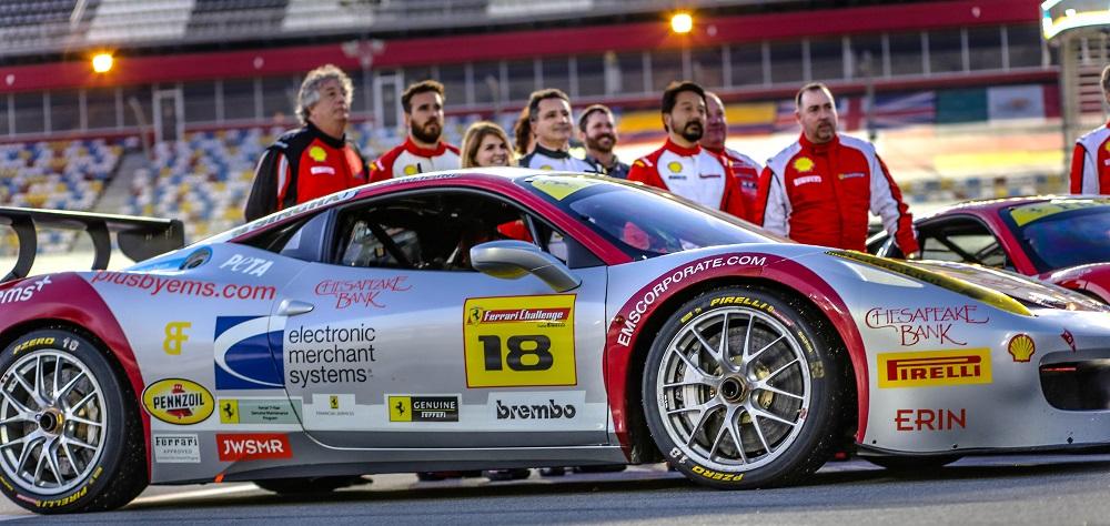The ems+ Ferrari Challenge team finishes first at Daytona International Speedway