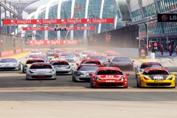 EMS Race Team Travels to Singapore for Asia Pacific Ferrari Challenge at Marina Bay