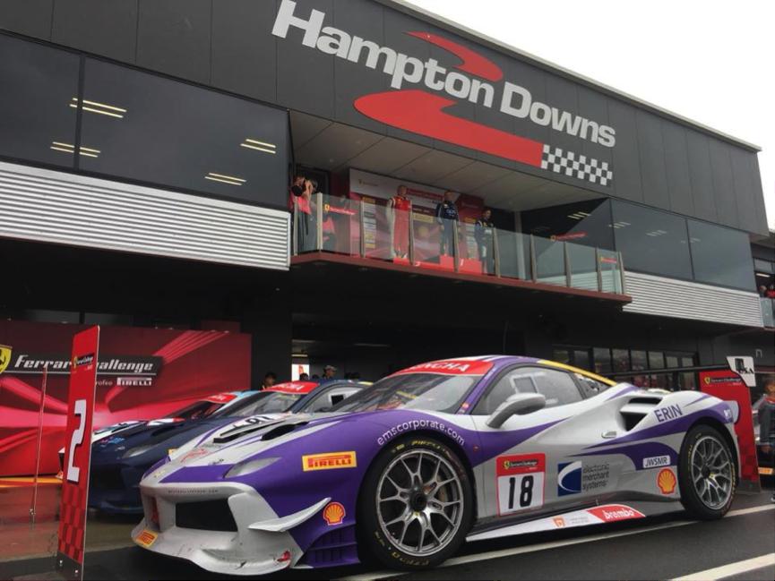 EMS Race Team Earns Podium Finish in New Zealand Ferrari Challenge