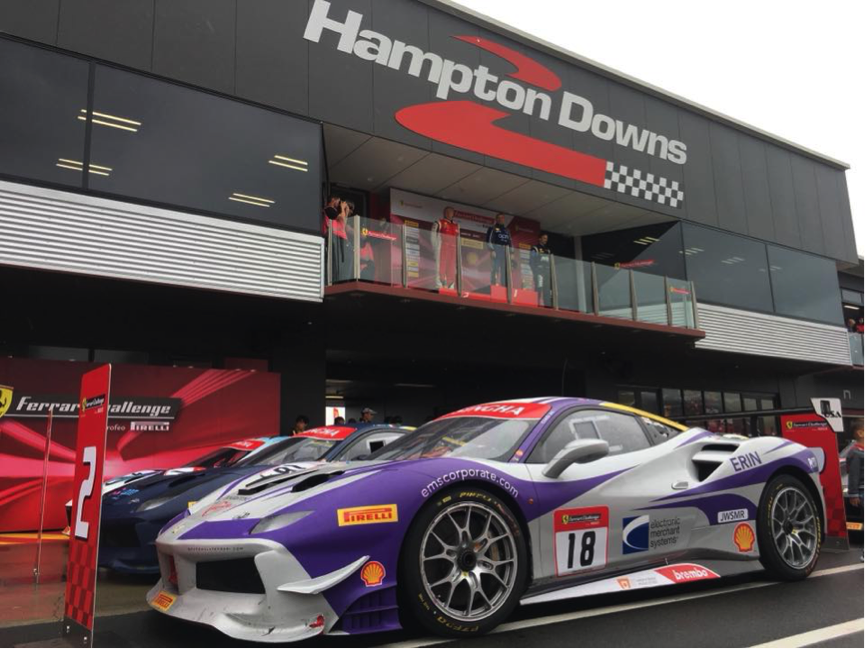 EMS Race Team Earns Podium Finish in New Zealand Ferrari Challenge