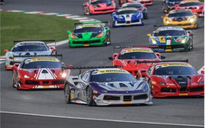 EMS Race Team Entering Temple of Speed for the Ferrari Challenge at Monza in Italy