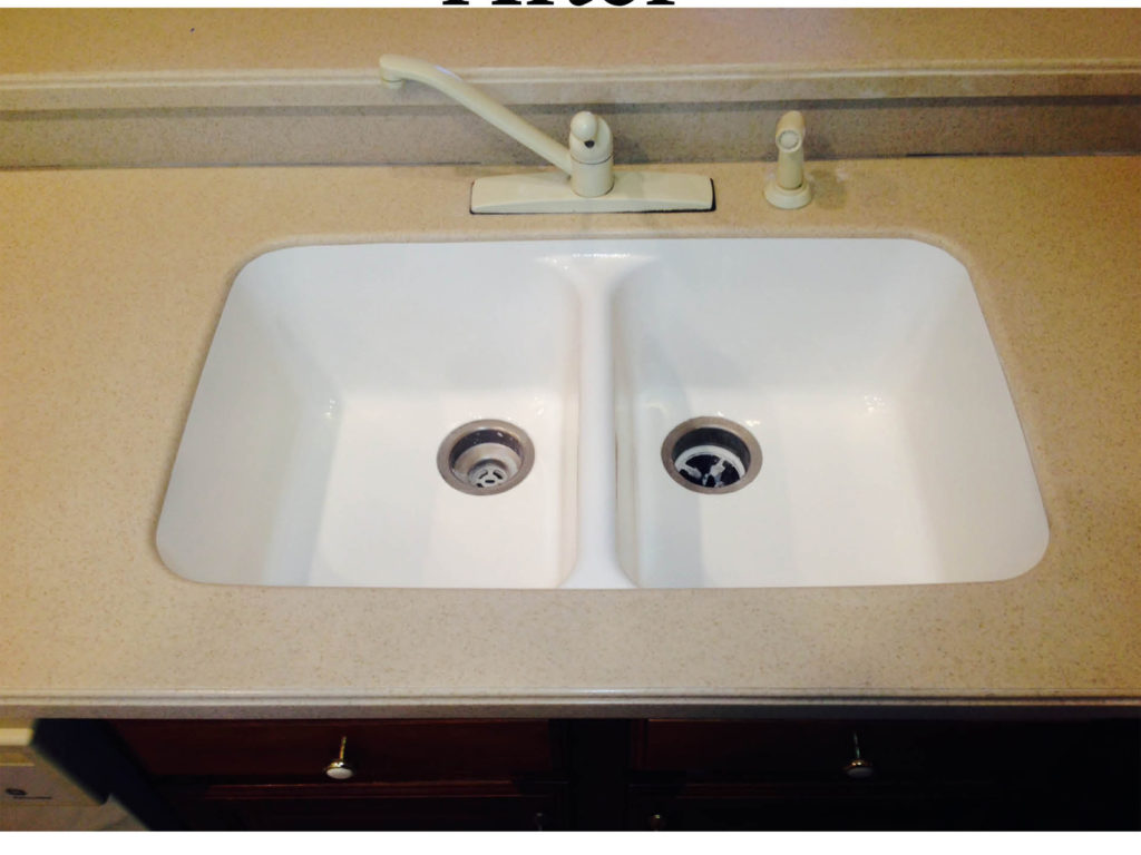 Resurfacing Solid Surface sink, After