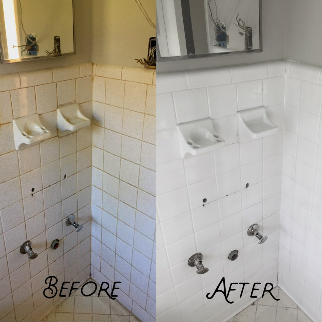 Old-fashioned wall tiles in need of new life