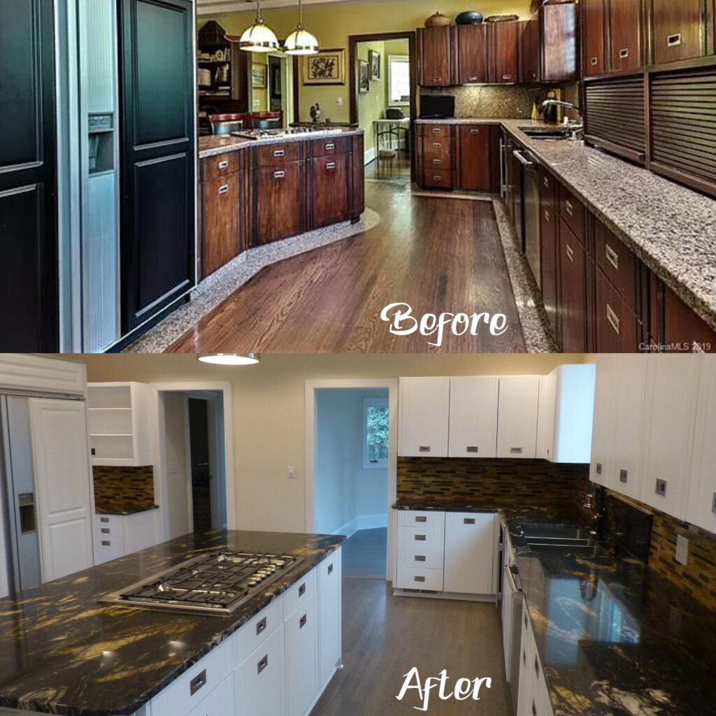 This high-end yet dated Kitchen needed a few changes for it to be in keeping with the area and the rest of the house.......