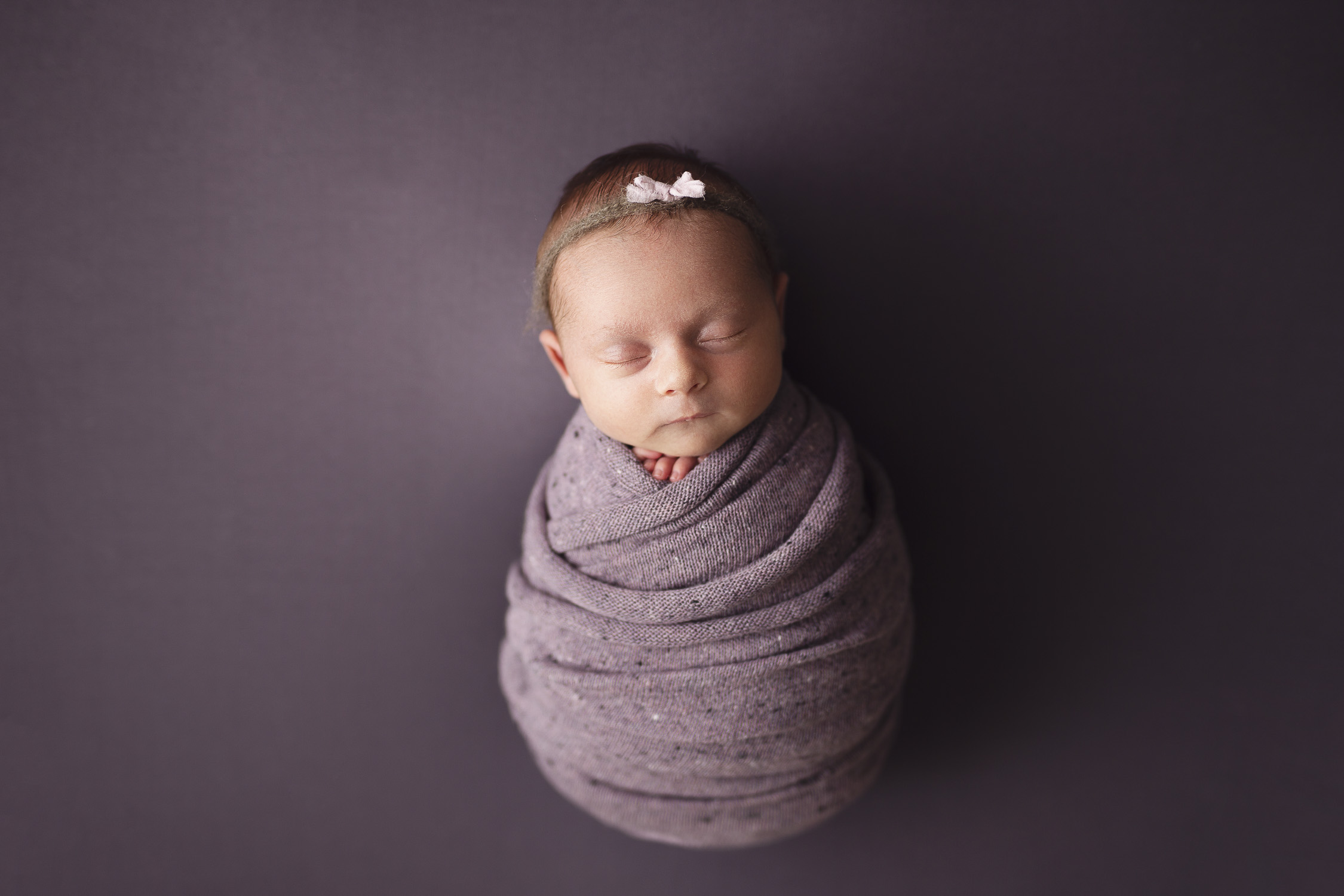 mom and dad holding newborn baby - studio newborn photography in calgary