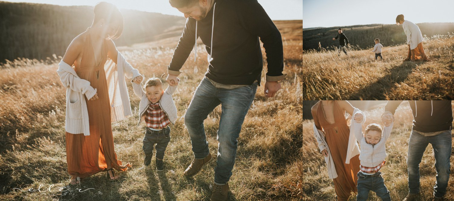 calgary sunset family photography session
