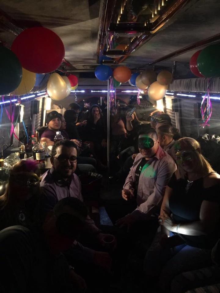 Party in bus