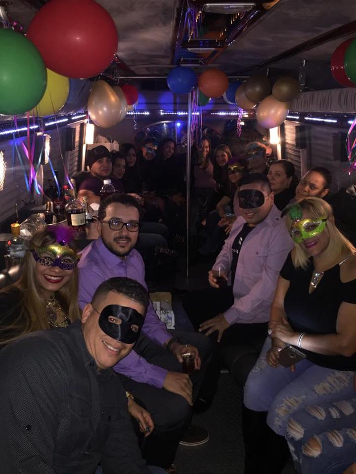 Party on bus