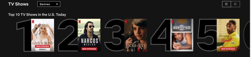 netflix top 10 tv shows
