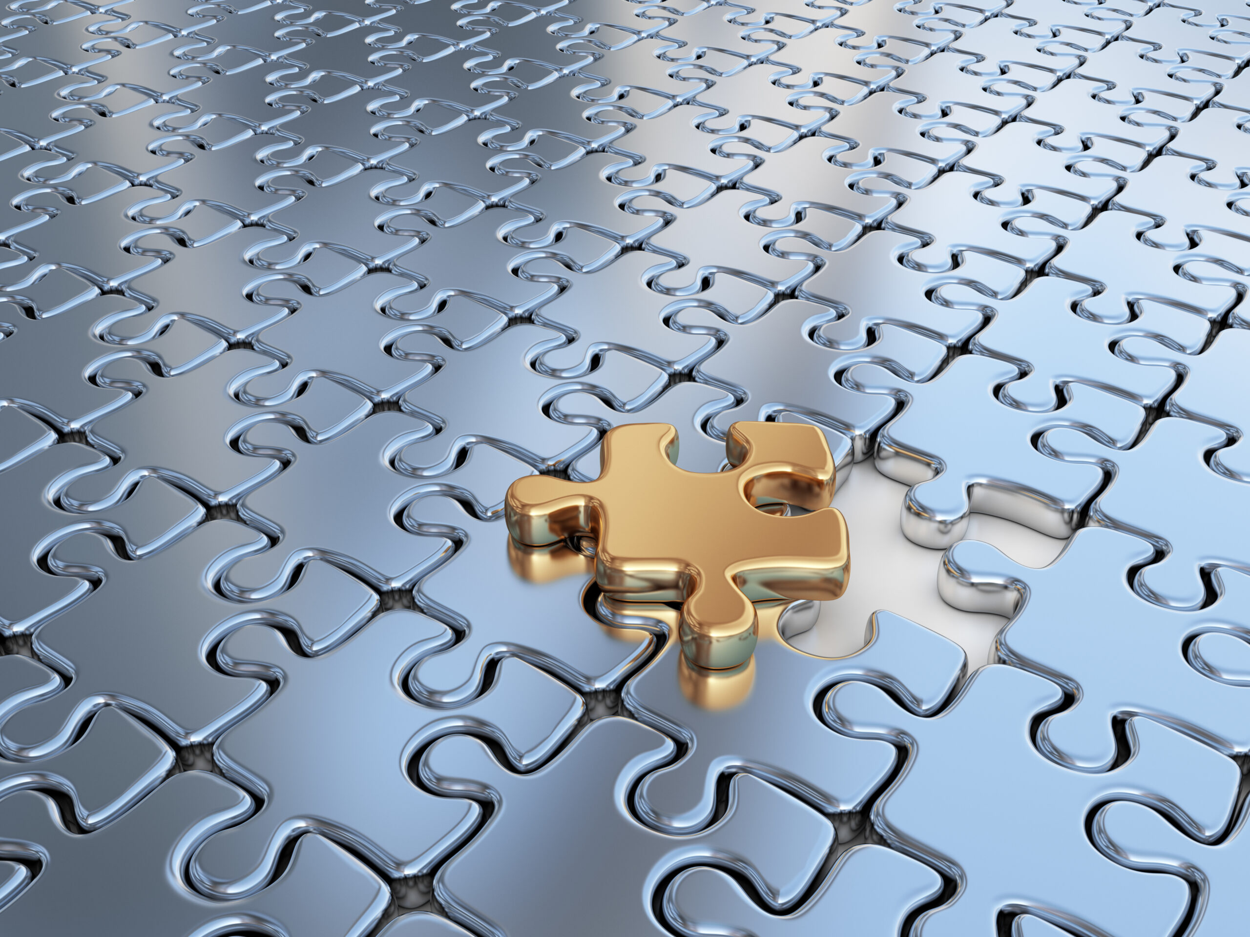 Puzzle 3D. Innovate, differentiate business background