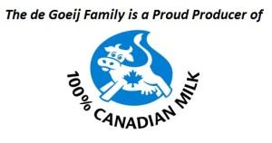 100% Canadian Milk