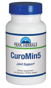 CuroMin5 joint support supplement from Peak Herbals