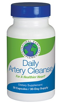 Daily Artery Cleanse cardiovascular support supplement from Natural Earth Supplements