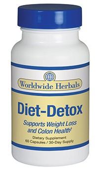 Diet-Detox weightloss supplement from Worldwide Herbals