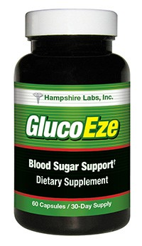 GlucoEze blood sugar support supplement from Hampshire Labs
