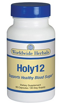 Holy12 diabetic blood glucose control supplement from Worldwide Herbals