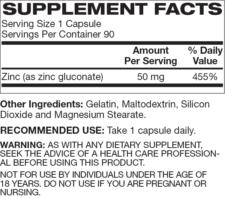 Zinc ingredients