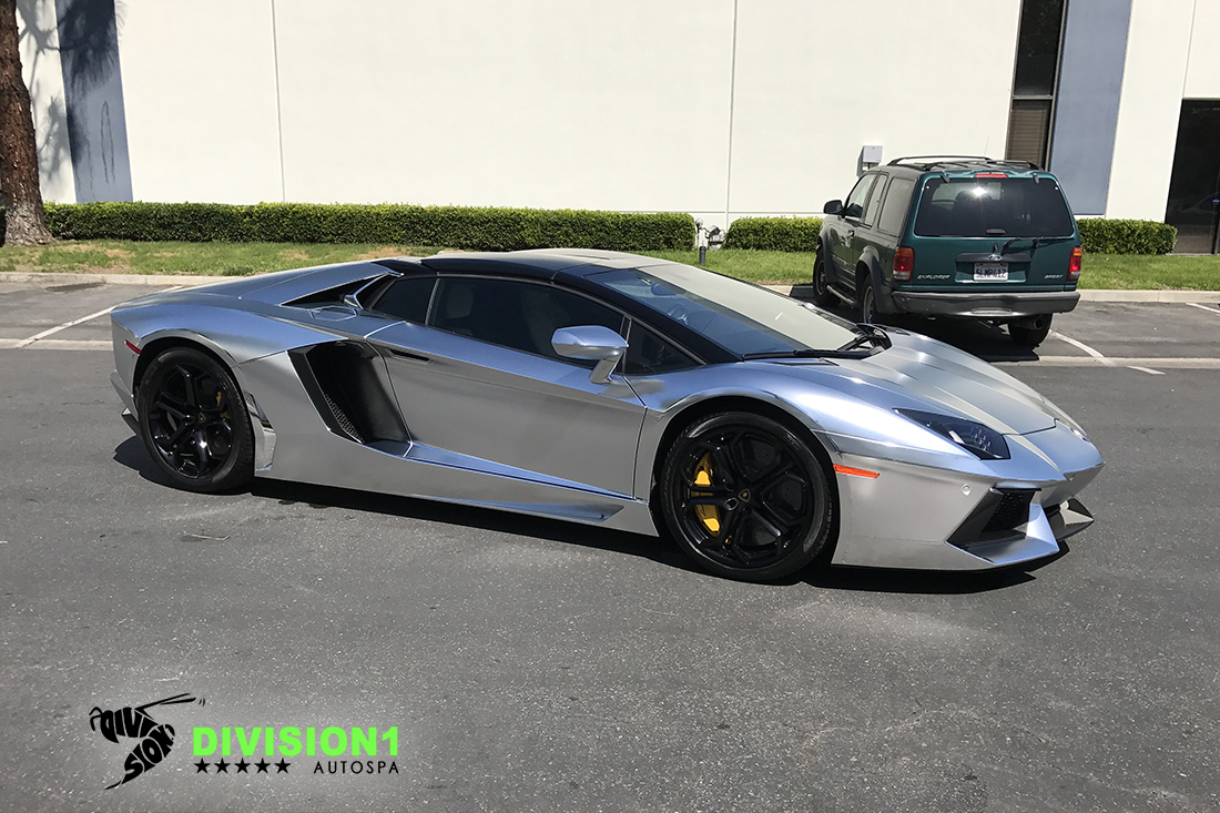 Polish Chrome Wrap | Ceramic Pro | Lamborghini Aventador