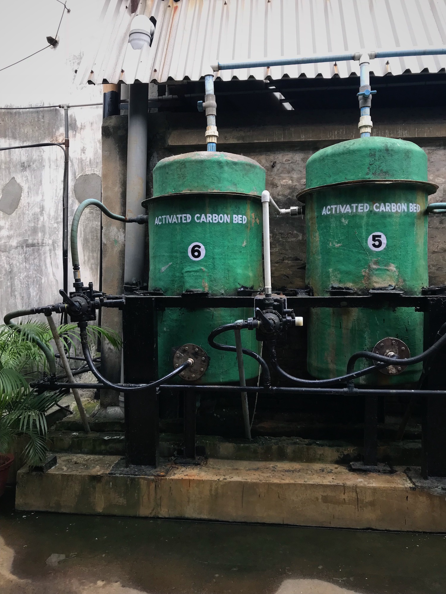 activated carbon bed tanks
