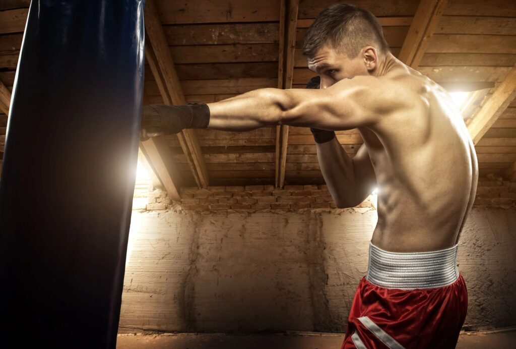 Men strength and power training for boxing