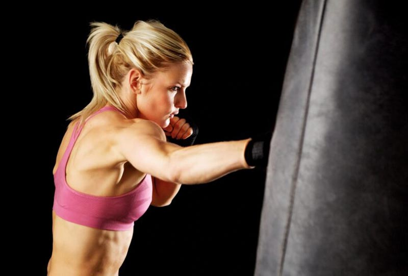Women strength and power training for boxing