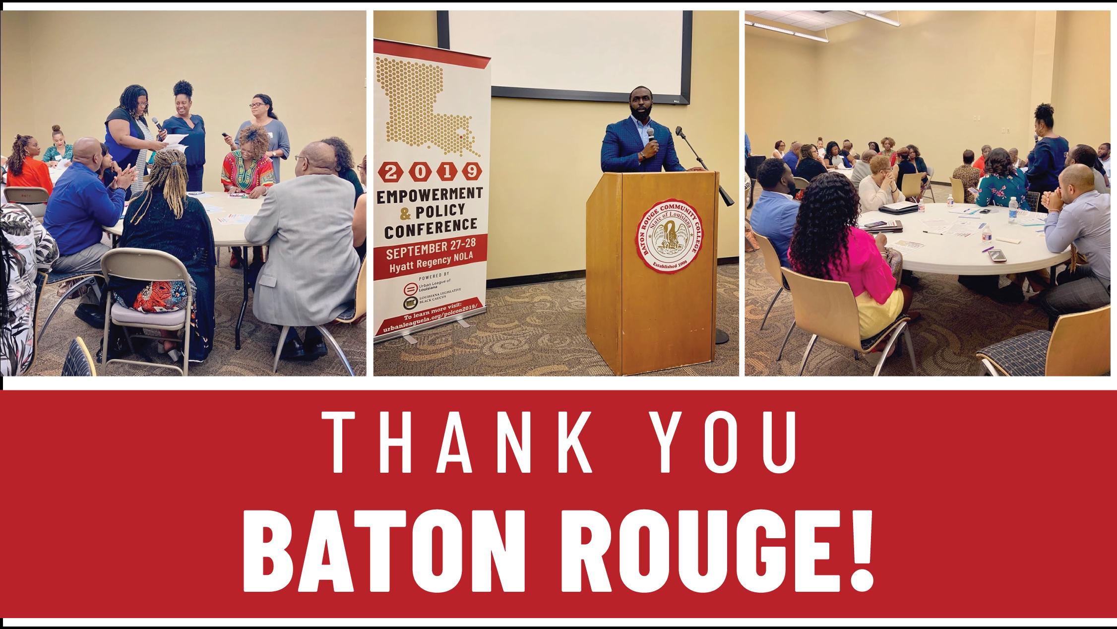 Thank you Baton Rouge