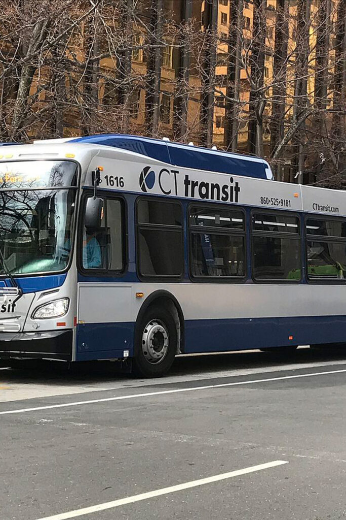 CT-Transit Bus, Public bus in Downtown Hartford, Connecticut