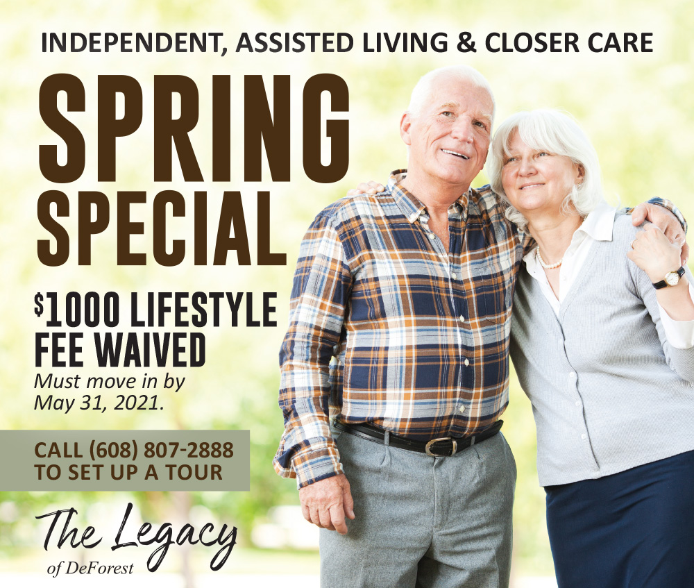 Spring Special Move In to Legacy of DeForest