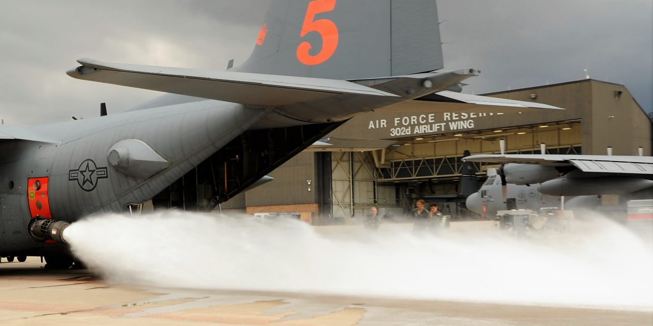 Air Force Reserve's 302nd Airlift Wing hosts annual aerial firefighting training
