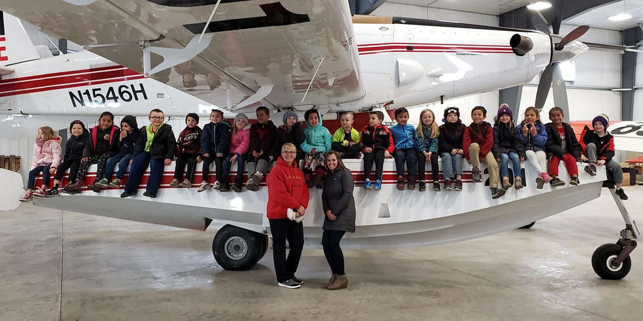 Dauntless Aviation Gives Elementary Students View of Aerial Firefighting Aircraft