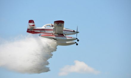 "Air Tractor 802F ""Fire Boss"" Air Tanker demonstrates aerial firefighting capabilities to Texas Forest Service"
