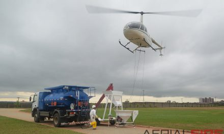 Turbine helicopter for forest treatment